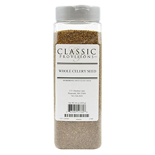 Classic Provisions Spices, Whole Celery Seed, 16 Ounce