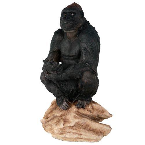 Lowland Gorilla Herbivorous Ape Wildlife Endangered Collectible Figurine Statue Decor (Ape Statue)