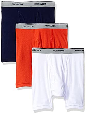 Fruit of the Loom Big Boys' Assorted Boxer Brief, Assorted Solids, S (6-8)
