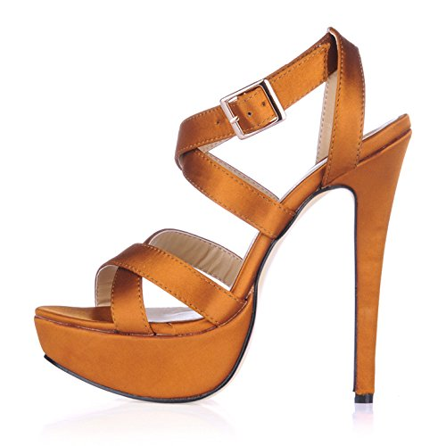 The spring of the girl sandals stylish new water desktop with the high-heel shoes shop. com Orange silk liwTStn9B2