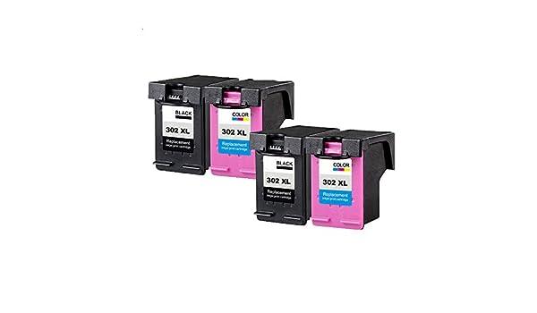 Teng® - Juego de 4 Cartuchos de Impresora HP 302 302XL ...