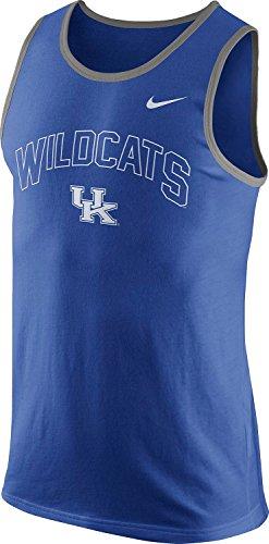 - Nike Kentucky Wildcats Mens College Cotton Arch Tank Top Sleeveless Shirt (2XL, Royal Blue)