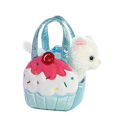 (Aurora World Fancy Pals Pet Carrier Sweets Cupcake & Kitty Plush)