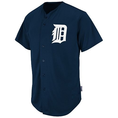 Detriot Tigers Full-Button BLANK BACK Major League Baseball Cool-Base Replica MLB (Athletics Tigers)