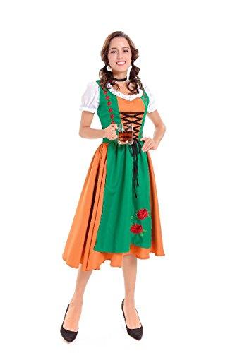 Simmia Halloween Costumes Classic Halloween Costumes German Oktoberfest Workwear Beer Wear Bars Men and Women Waiters, Women's, M -