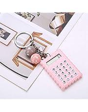 FOLOSAFENAR Mini urocze ciasteczka kalkulator mini przenośny kalkulator przenośny kalkulator kolorów do domu biura pracy w podróży (różowy)