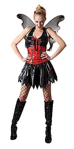 Maternity Angel Costumes (Women PVC Dark Night Angel Gothic Costume Ladies Halloween Horror Parties Outfit#(Night Angel Costume)