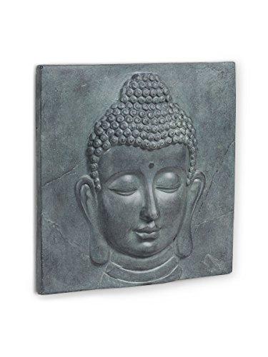 Abbott Collection 27-SERENITY/P137 Grey Medium Buddha Wall Plaque