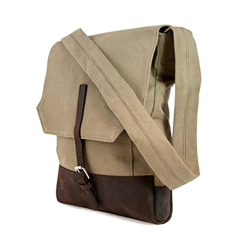 CAUSEGEAR Messenger Bag, Taupe Canvas by CAUSEGEAR