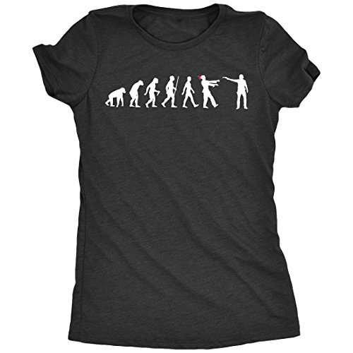 Trunk Candy Evolution Of The Walking Dead Women's Tri-Blend T-Shirt (Black Frost, Medium) (T-shirt Vintage Walking)