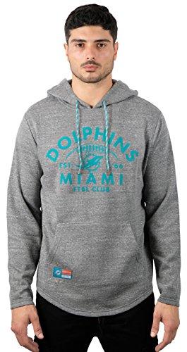 ICER Brands Adult Men Fleece Hoodie Pullover Sweatshirt Vintage Logo, Gray, Snow, Medium