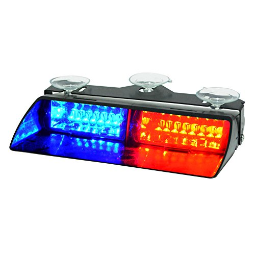 WOWTOU Emergency Strobe Dash Light 16W Red Blue LED with 18 Flash Patterns for Police Hazard Warning Cars POV Traffic Advisors