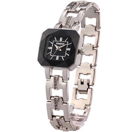Time100 손목시계 스켈리턴 다이어 아주 멋진 팔찌 레이디스 워치W80023L