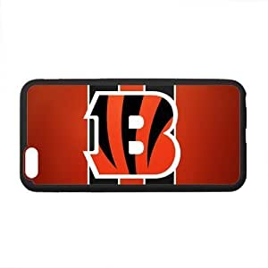 Custom Cincinnati Bengals Logo Patern Phone Case Laser Technology for iPhone 6 Plus Designed by HnW Accessories