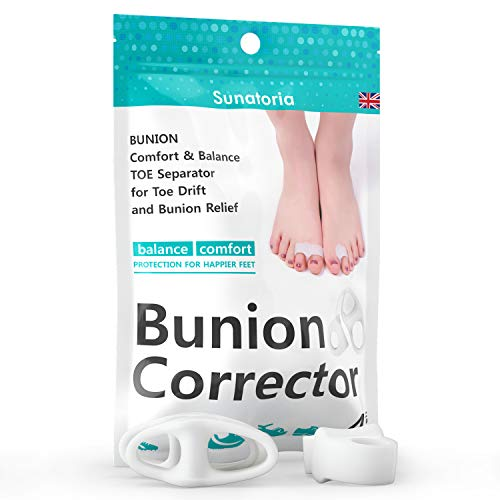 2019 Bunion Corrector by Sunatoria – Hammer Toe Straightener for Right and Left Feet by Sunatoria – Soft Gel Separators for Hallux Valgus Pain Relief – Bunion Pad Toe Protectors – Fast Orthope