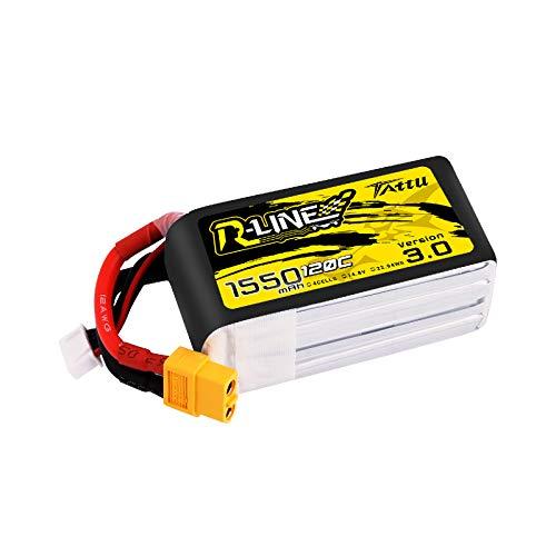 TATTU R-Line 1550mah 4S 120C Lipo Battery with XT60 Plug for FPV Racing Drones