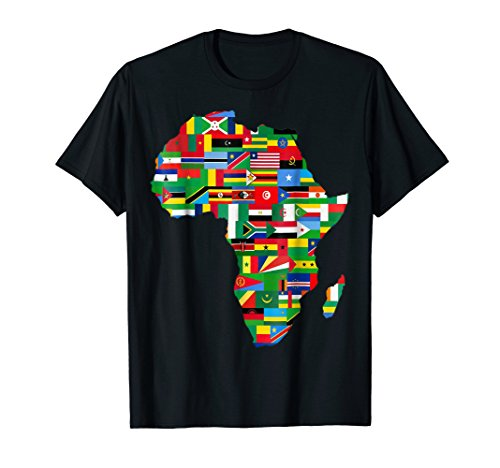 Mens Africa T-Shirt Proud African Country Flags Continent Love 3XL Black by Africa T-Shirt