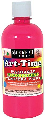 - Sargent Art 17-4729 Art-Time 16oz Pink Washable Fluorescent Tempera Paint