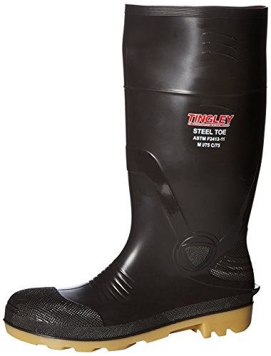 Tingley Rubber 51244 15-Inch Steel Toe Cleated Knee Boot, Size 10, Brown by TINGLEY