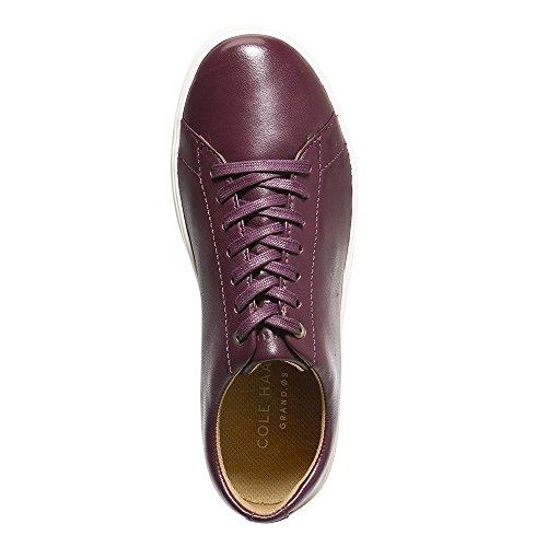 Sneaker Da Uomo In Pelle Color Malbecca / Avorio