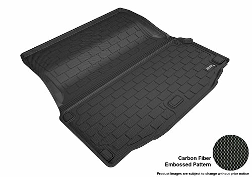 3D MAXpider Cargo Custom Fit All-Weather Floor Mat for Select Mercedes-Benz C-Class Coupe (C205) Models - Kagu Rubber (Black)