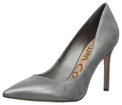 (Sam Edelman Women's Hazel Pump, Dark Pewter Metallic Leather, 8 M US)