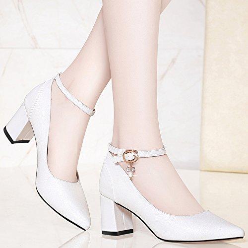 Los HUAIHAIZ Zapatos Tacones Tacón Noche de Zapatos Alto de White Mujer Zapatos PU nWn6arRHx