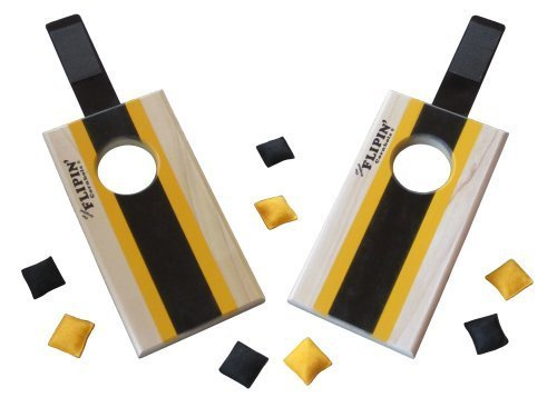 The Original Flipin' Table-Top Mini Cornhole Game, Pittsburgh Steelers (Pittsburgh Steelers Colors)