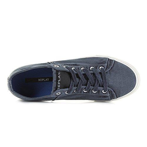 Replay Zapatos de cordones para hombre azul azul