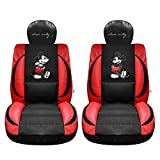 Mickey Mouse Auto Seat Covers (Pair) Premium Faux Leather Edition