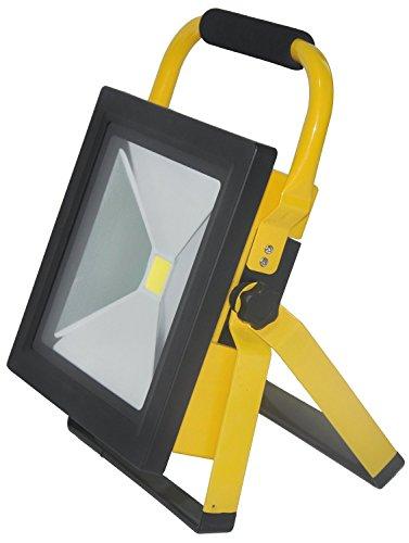 SAILUN 50W Ultraslim LED Fluter Arbeitsleuchte Mit Akku Kaltweiß Gelb Dünn Baustrahler Handlampen Flutlicht Tragbar Wiederaufladbare IP65 (50W Kaltweiß)