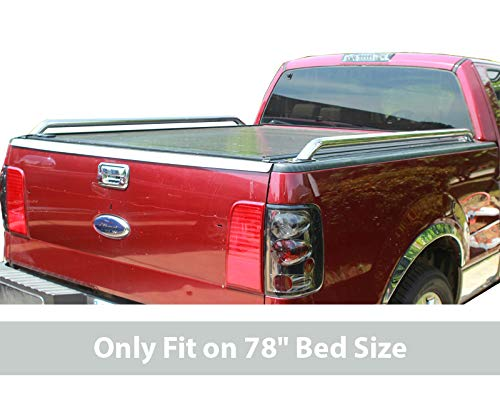 Tyger Custom Fit 97-14 Ford F150 78 inch (= 6.5 feet) Short Bed Stainless Steel Pickup Truck Bed Side Rails (Mounting Hardware Included)
