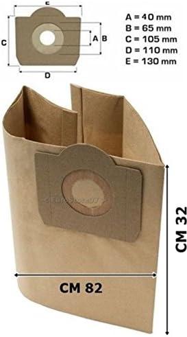 4 bolsas bolsas aspiradora Parkside PNTS 1500 A1 grande come ...