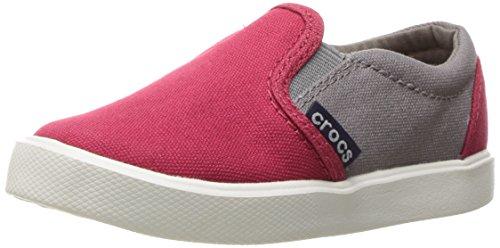 Crocs Kids' Citilane Sneaker K Slip-On, Pepper/Smoke, 2 M US Little Kid