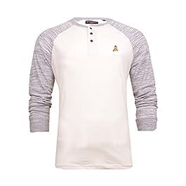 Brave Soul Mens Mitchell Herrera and Rasmus Grandad T-Shirt Long Sleeved Buttoned T Shirt