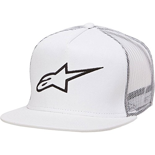ALPINESTARS Men's Corp Trucker Hat, White, One Size
