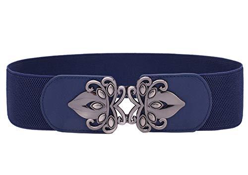 Syuer Womens Vintage Wide Elastic Stretch Waist Belt Retro Cinch Belt (XXXL (43