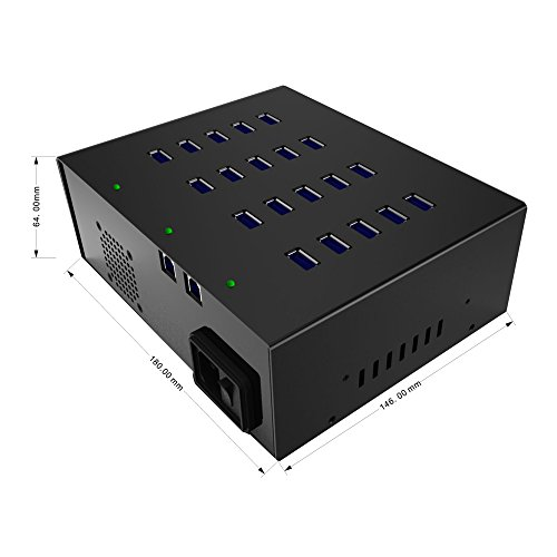 20 Port USB 3.0 Hub Support Data Sync+Charging With 110V/220V 5V 20A Power Supply by Sipolar (Image #5)