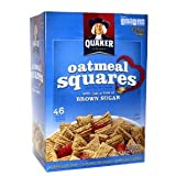 Quaker Oatmeal Squares Crunchy Oatmeal Cereal 58 oz (Pack of 4)