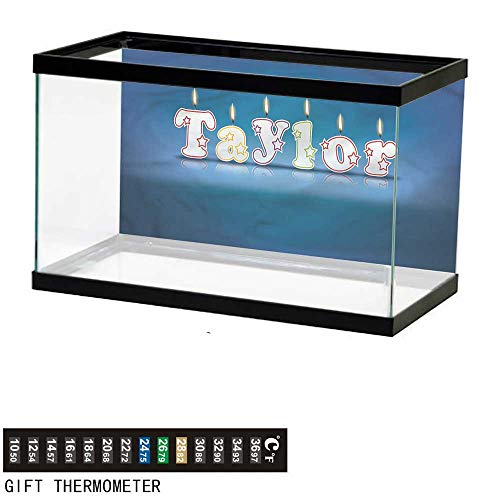 (Suchashome Fish Tank Backdrop Taylor,Celebration Candle Font,Aquarium Background,48
