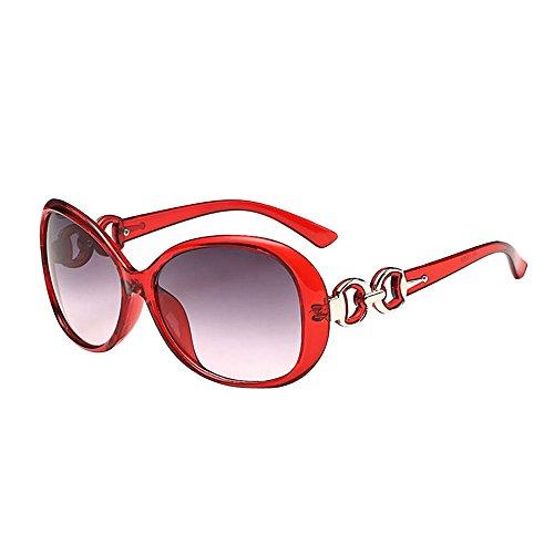 JJLIKER Polarized Sunglasses for Women UV400 Lens Fashion Decoration Large Frame Fashionwear Goggles Ultra Light ()