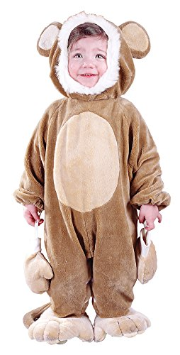 Baby Costumes - Cuddly Monkey Baby Costume 6-12 Months