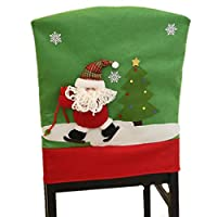 Christmas chair cover 3 PCS chair back cover holiday holiday decoration set(Style 13 Medium)