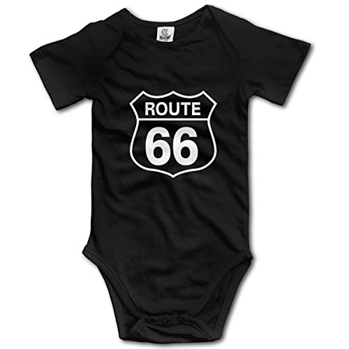 Route 66 Infant Baby Shorts Sleeve Bodysuits Rompers Outfits Black