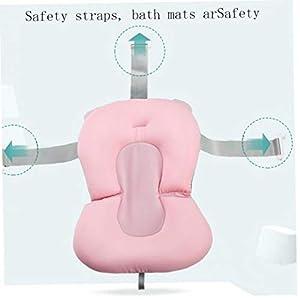 Baby Bath Cushion Newborn Bath Anti-Slip Mesh Cushion Multi Function Baby Seat Pad Infant Floating Bather Bathtub Pad…