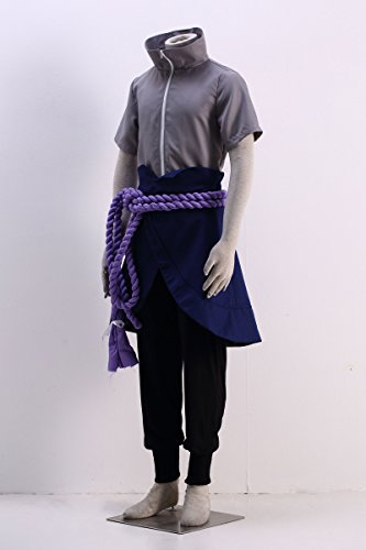 OURCOSPLAY Naruto Uchiha Sasuke Men's Cosplay Costume 5Pcs (Men M) by OURCOSPLAY (Image #1)