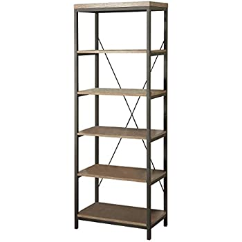 HOMELEGANCE 3224N-16 Wood and Metal Bookcase, 26