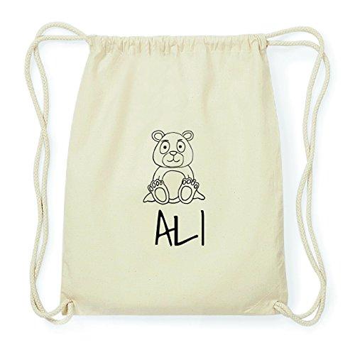 JOllipets ALI Hipster Turnbeutel Tasche Rucksack aus Baumwolle Design: Bär