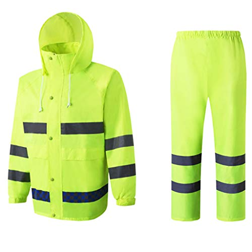 Flameer Reflective Raincoat Waterproof Rainwear Hood Jacket Outdoor Coat Pants Zipper Design - XXL by Flameer (Image #10)