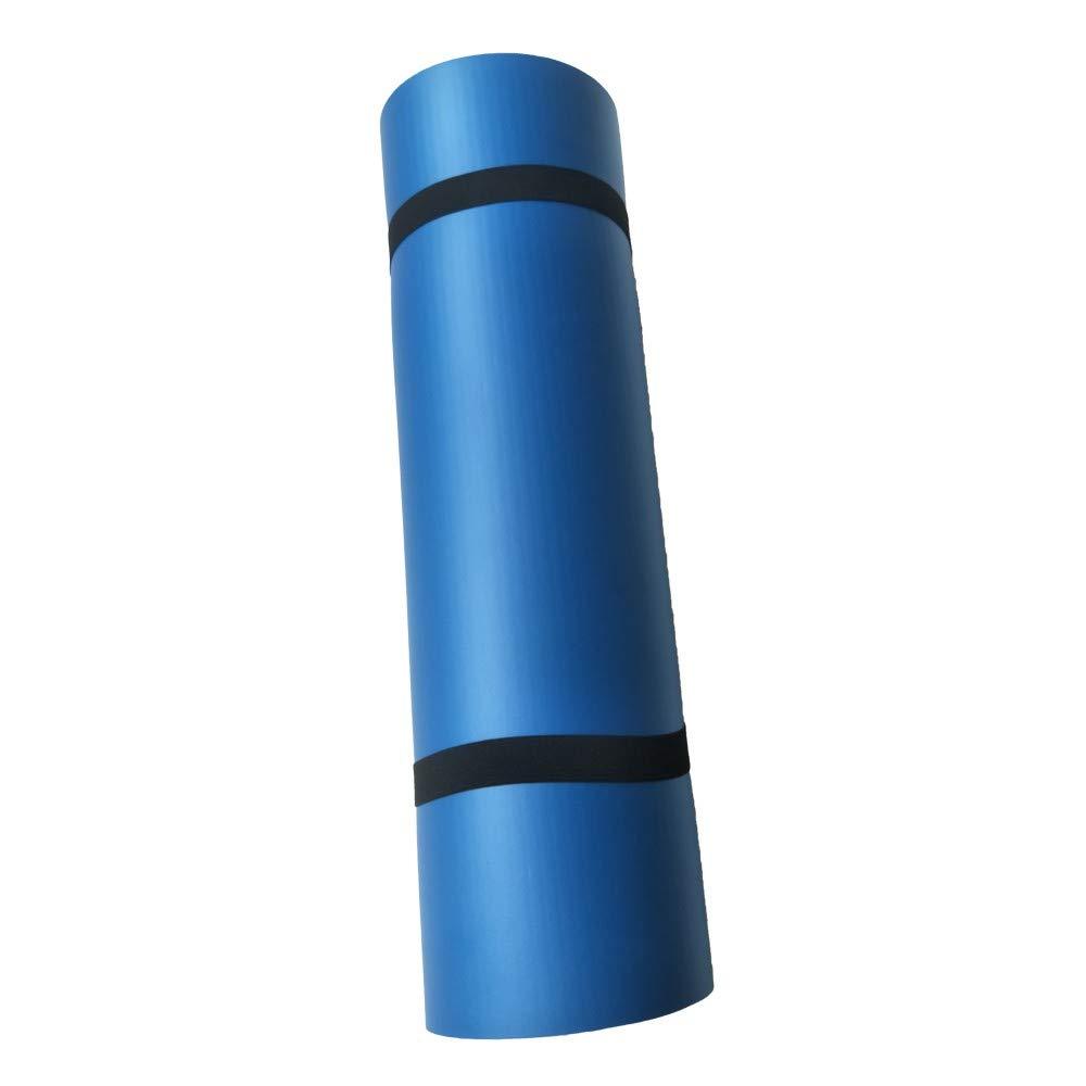 certainPL 多目的ヨガマット - 15mm 極厚 高密度 破れにくい ヨガ ピラティス 床 エクササイズ 72インチ x 24インチ (ヨガマットバッグとキャリーストラップ付属)  ブルー B07KC52KMN